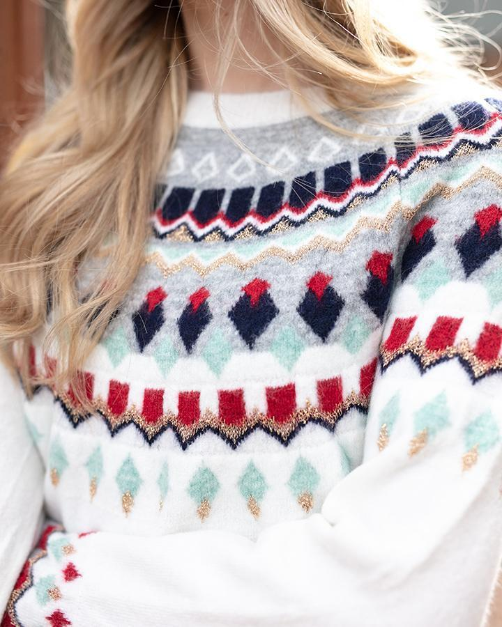 Grace & Lace Intarsia Ski Sweater