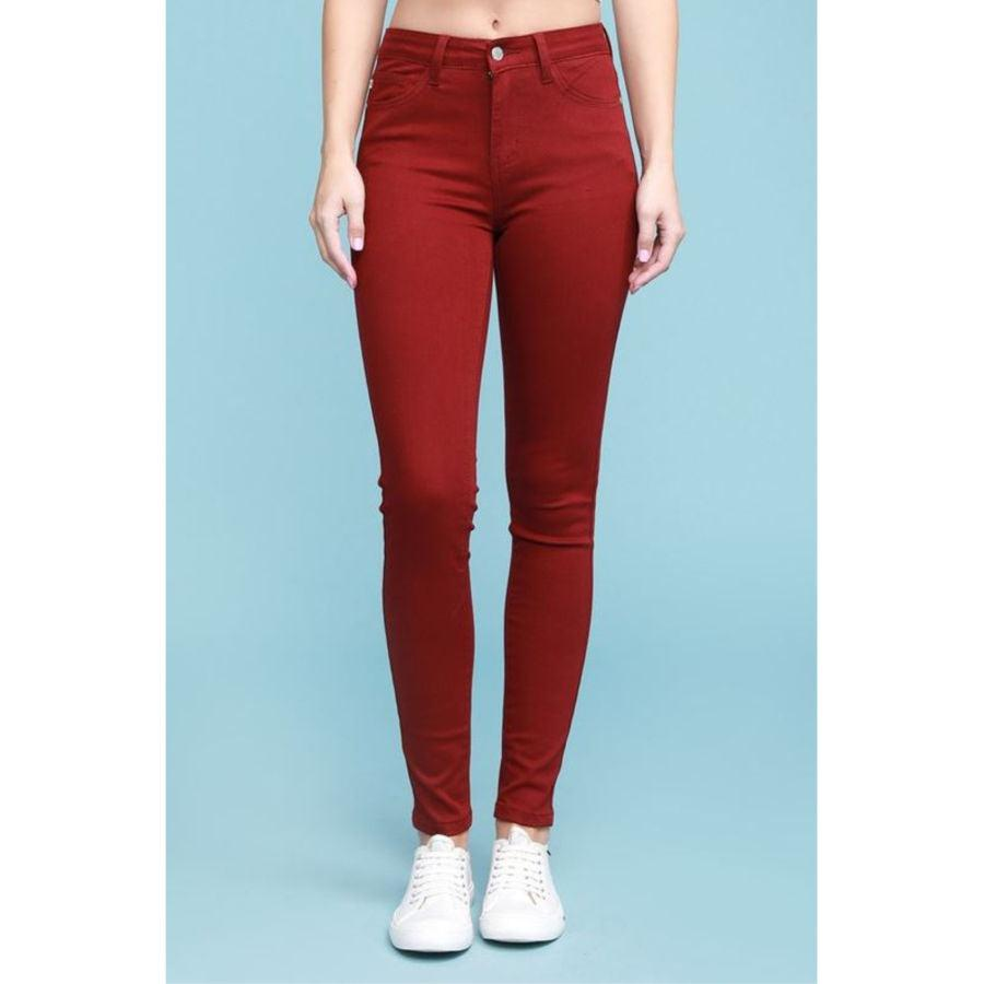 Judy Blue Maroon Colored Denim