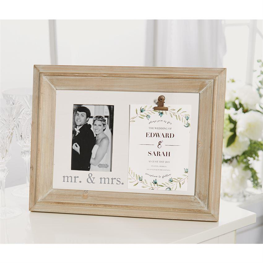 Mud Pie Mr. & Mrs. Binder Clip Invitation Frame - Crane/Boerma Registry