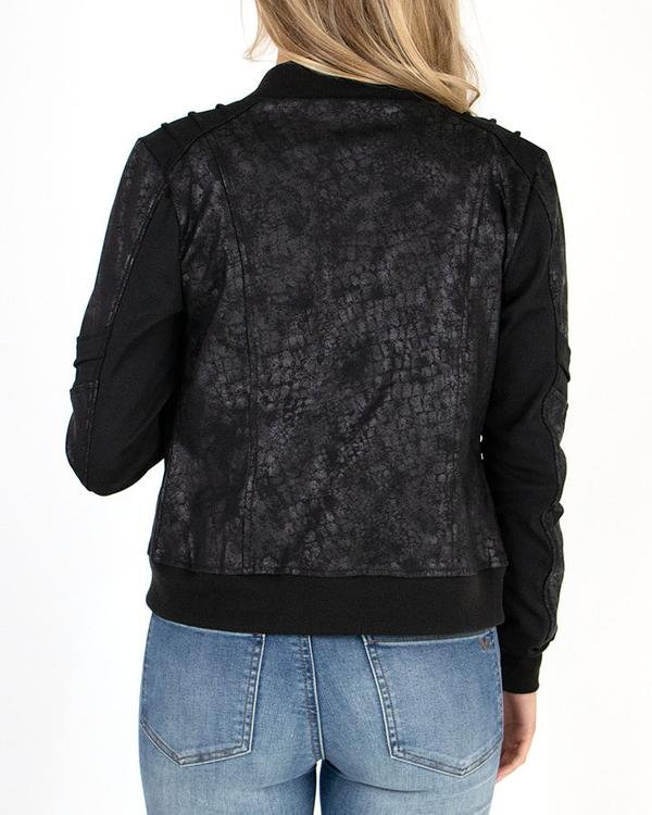 Grace & Lace Leather Look Biker Jacket