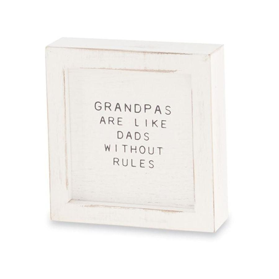 Mud Pie Grandpa Small Family Plaque