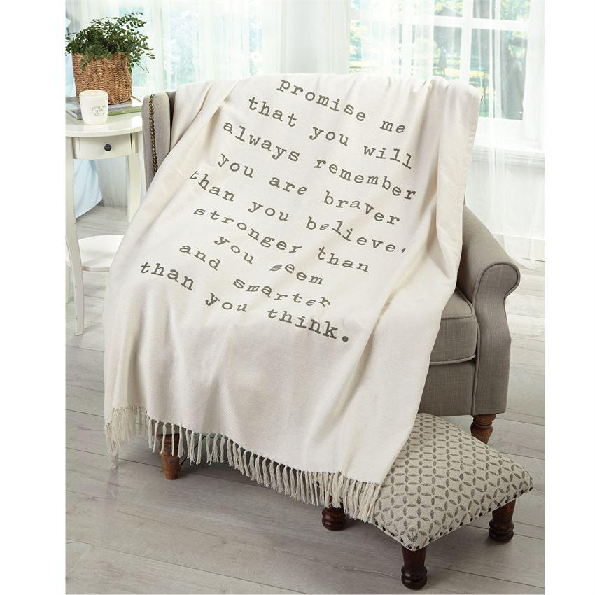 Mud Pie Pazitive Tassel Throw