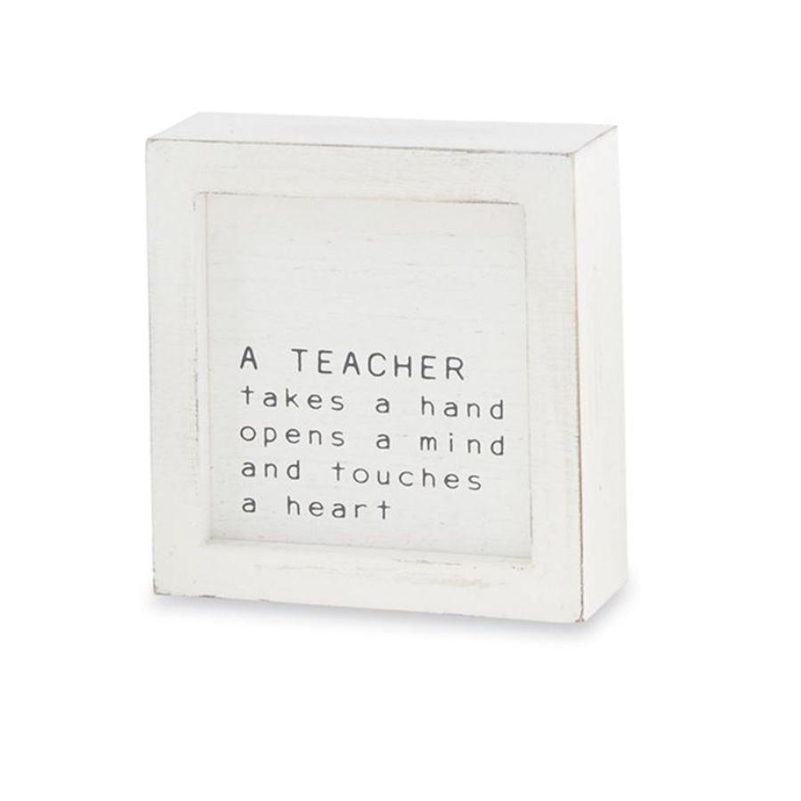 Mud Pie Teacher Small Family Plaque