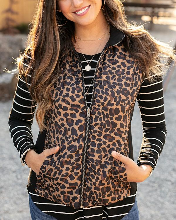 Grace & Lace Reversible Slim Fit Vest - Black Cheetah