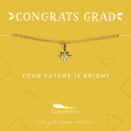 Congrats Grad Necklace - Future is Bright
