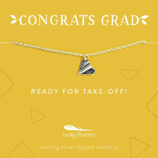 Congrats Grad Necklace - Ready for Take-off