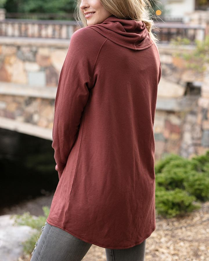 Grace & Lace Ultra-Soft Cowl Neck Tunic