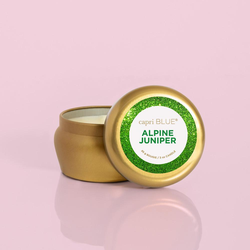 Capri Blue Alpine Juniper Glam Mini Tin - 3 oz