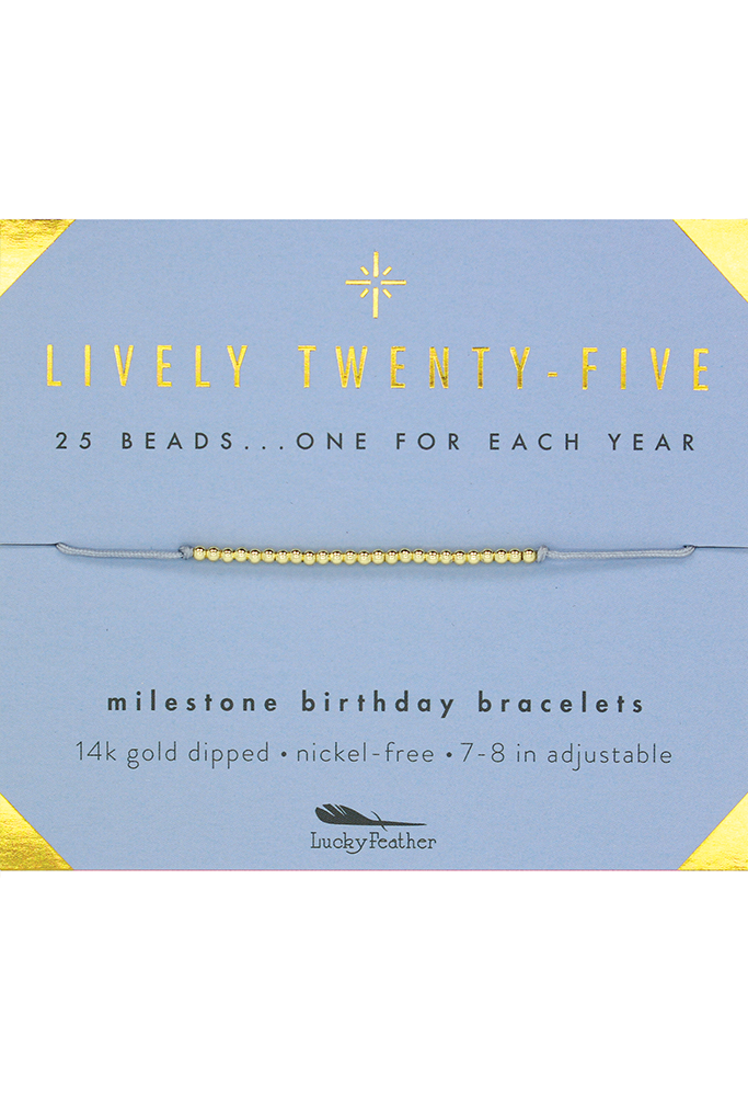 Birthday Milestone Bracelet-Lucky Feather-BeautyOfASite | Beauty, Fashion & Gourmet Boutique