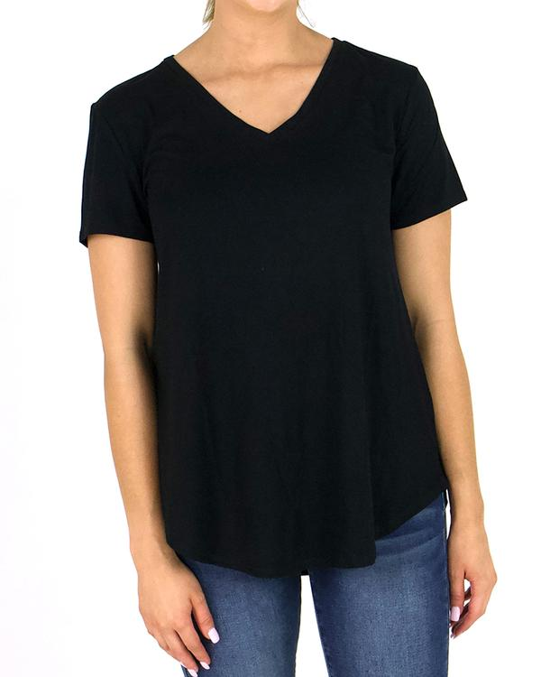 Grace & Lace Perfect V-Neck Tee - Solids