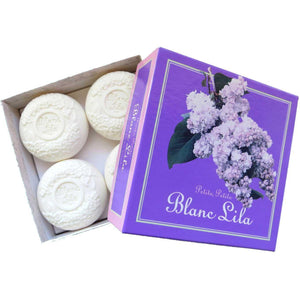 Blanc Lila Petite Gift Box of 4 Mini Soap Bars-Blanc Lila-BeautyOfASite | Beauty, Fashion & Gourmet Boutique