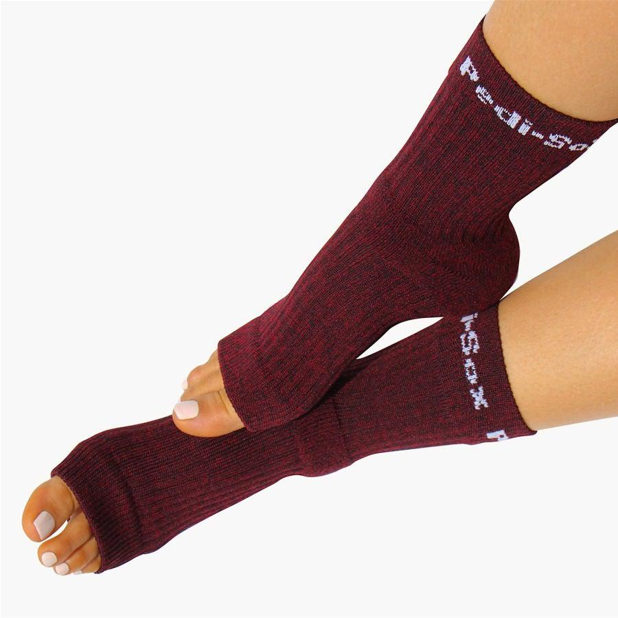 Pedi-Sox Burgundy Heathered Pedicure Socks - Classics Collection