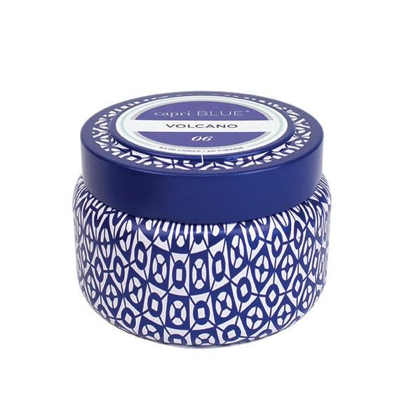 Capri Blue Printed Travel Tin - Volcano (8.5 oz.)-Capri Blue-BeautyOfASite | Beauty, Fashion & Gourmet Boutique