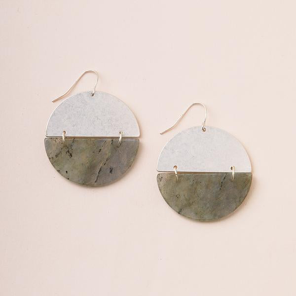 Scout Curate Wears Stone Full Moon Earring - Labradorite