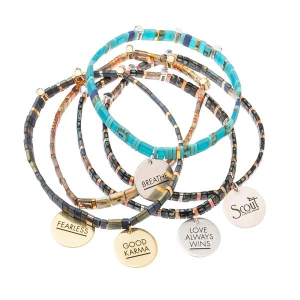Scout Curated Wears Good Karma Miyuki Charm Bracelet - Love Always Wins