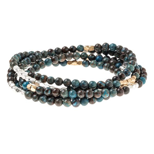 Scout Curated Wears Stone Wrap Bracelet/Necklace - Blue Sky Jasper