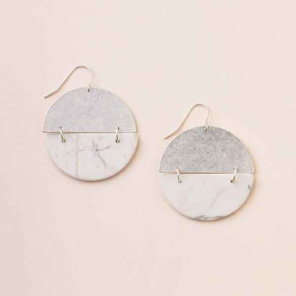 Scout Curate Wears Stone Full Moon Earring - Howlite