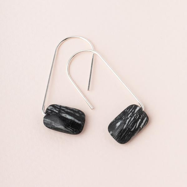 Scout Floating Stone Earring - Picasso Jasper