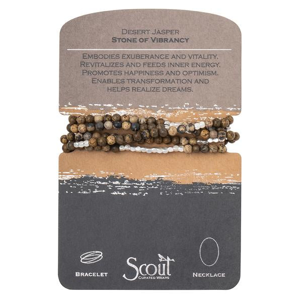 Scout Curated Wears Stone Wrap Bracelet/Necklace - Desert Jasper