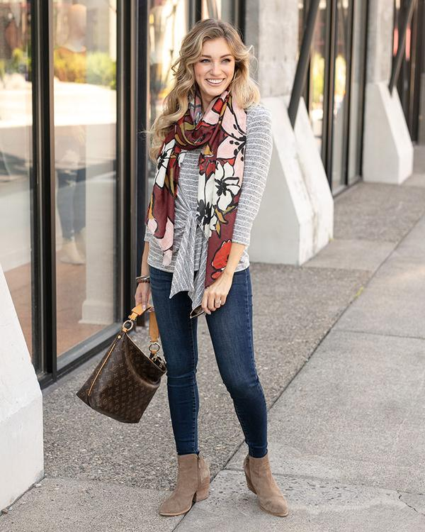 Grace & Lace Fall Floral Scarf