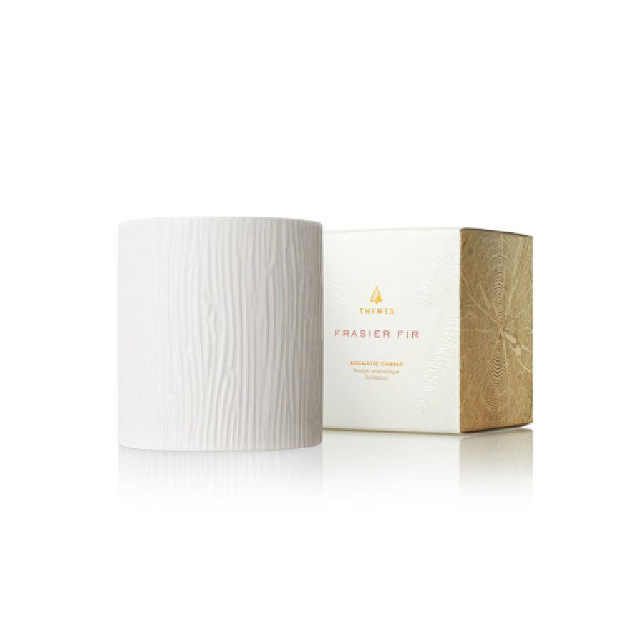 Thymes Frasier Fir Medium Ceramic Candle