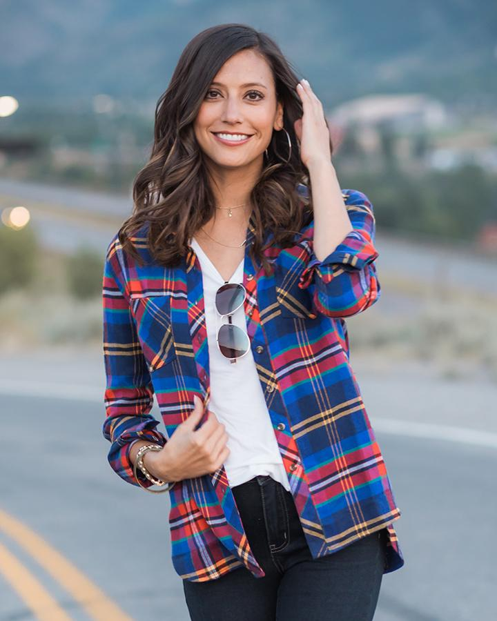 Grace & Lace Lumberjack Plaid Shirt - Bold Multi-Grace and Lace-BeautyOfASite | Beauty, Fashion & Gourmet Boutique