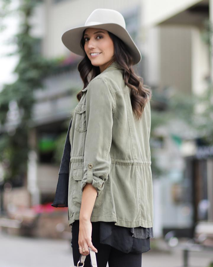Grace & Lace Olive Tencel Cargo Jacket-Grace and Lace-BeautyOfASite | Beauty, Fashion & Gourmet Boutique