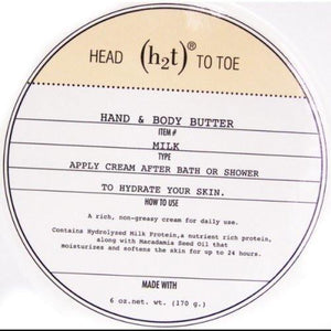 H2T Body Butter - 6 oz-H2T-BeautyOfASite | Beauty, Fashion & Gourmet Boutique