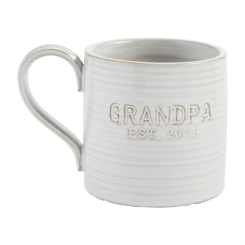 Mud Pie Grandpa Est. 2021 Coffee Mug