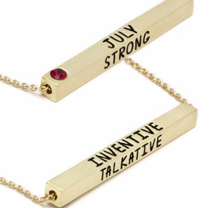 Laura Janelle by Cousin Birthstone Bar Necklace-Laura Janelle-BeautyOfASite | Beauty, Fashion & Gourmet Boutique