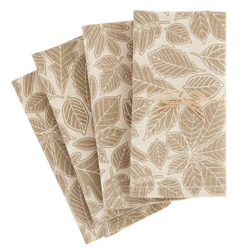 Mud Pie Leaf Napkin Set