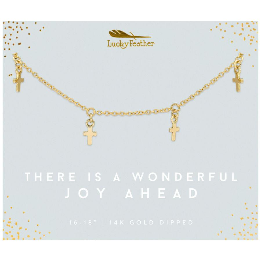 Lucky Feather Joy Ahead Necklace