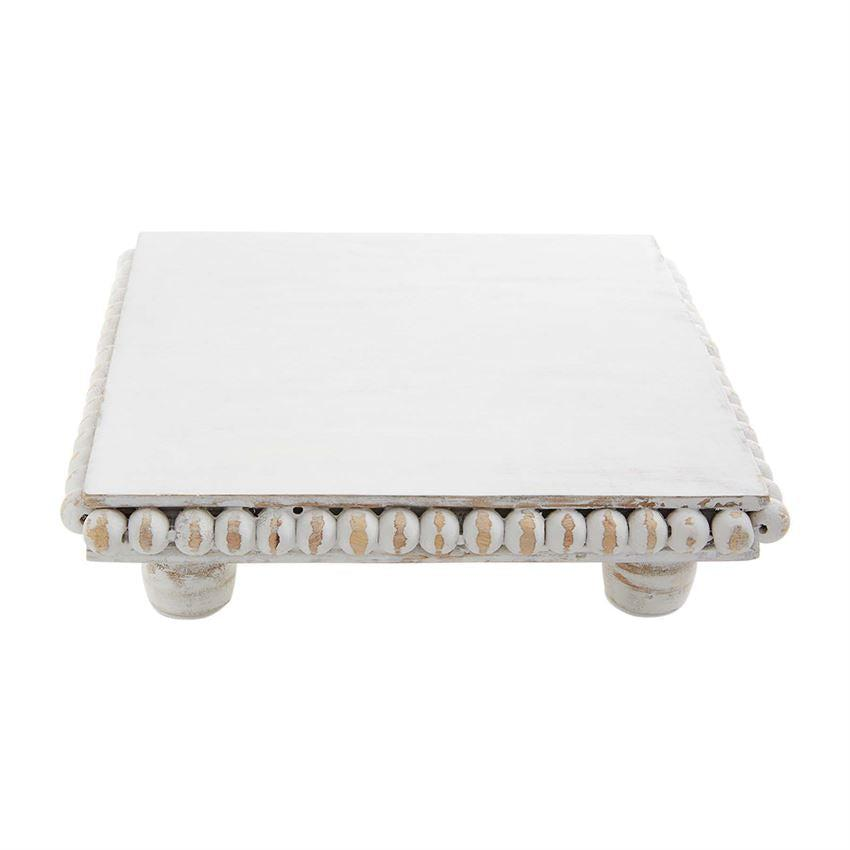 Mud Pie White Beaded Trivet - Crane/Boerma Registry