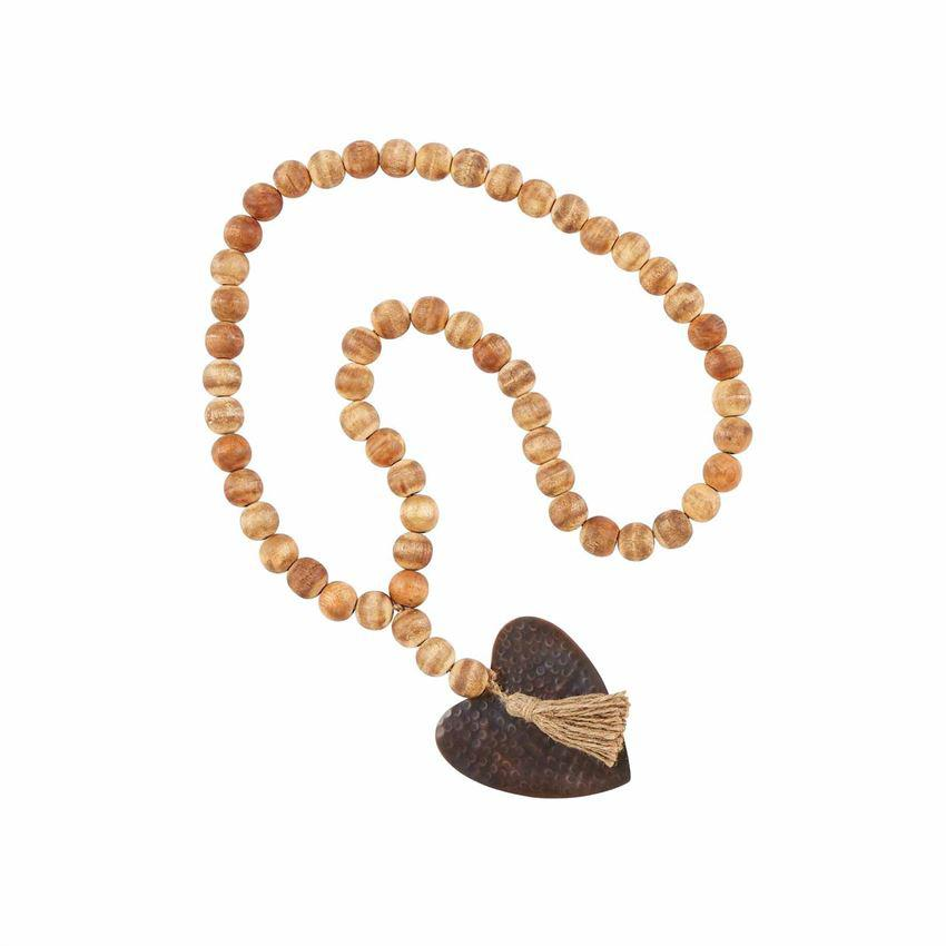 Mud Pie Heart Tassel Beads - Crane/Boerma Registry