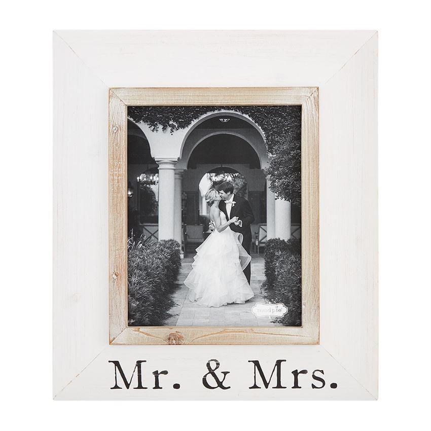 Mud Pie Large Mr. & Mrs. Wood Frame - Crane/Boerma Registry