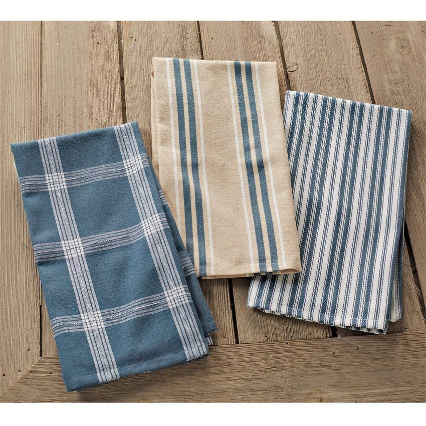 Mud Pie Bistro Stacked Dish Towel Set-Mud Pie-BeautyOfASite | Beauty, Fashion & Gourmet Boutique
