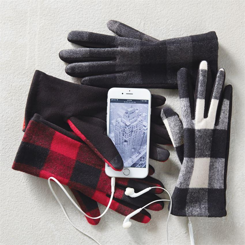 Mud Pie Buffalo Check Gloves-Mud Pie-BeautyOfASite | Beauty, Fashion & Gourmet Boutique