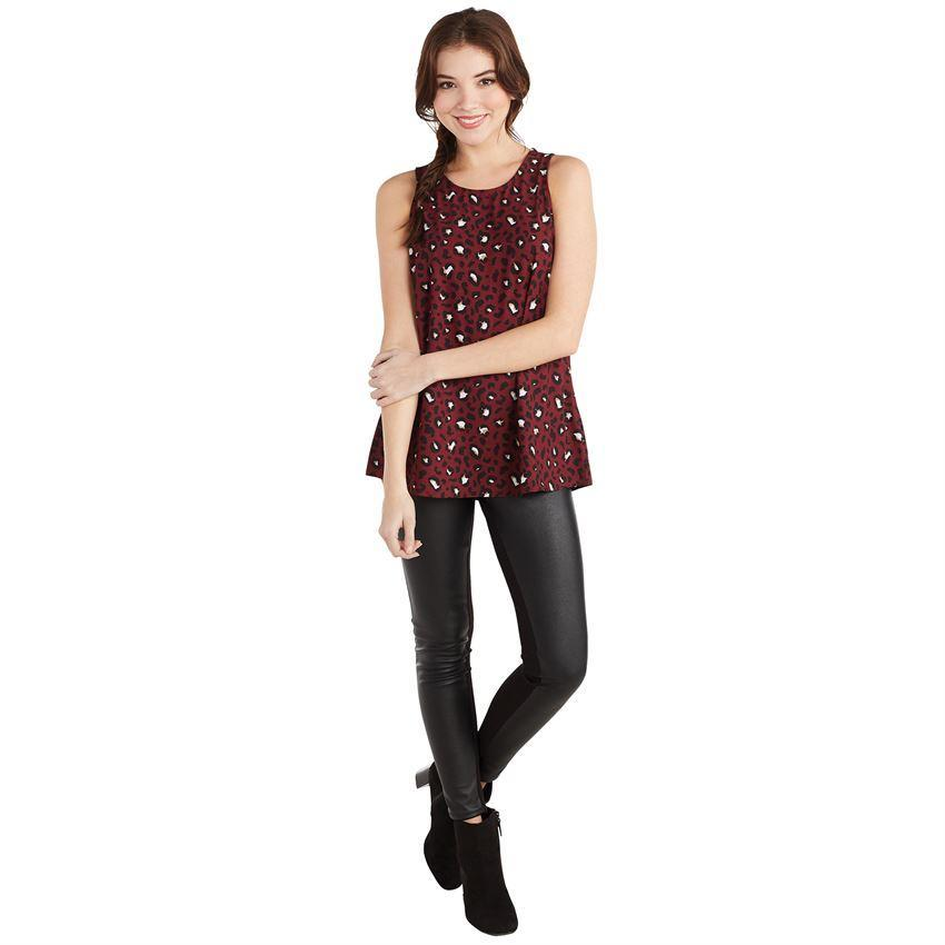 Mud Pie Burch Tank - Burgundy Leopard-Mud Pie-BeautyOfASite | Beauty, Fashion & Gourmet Boutique