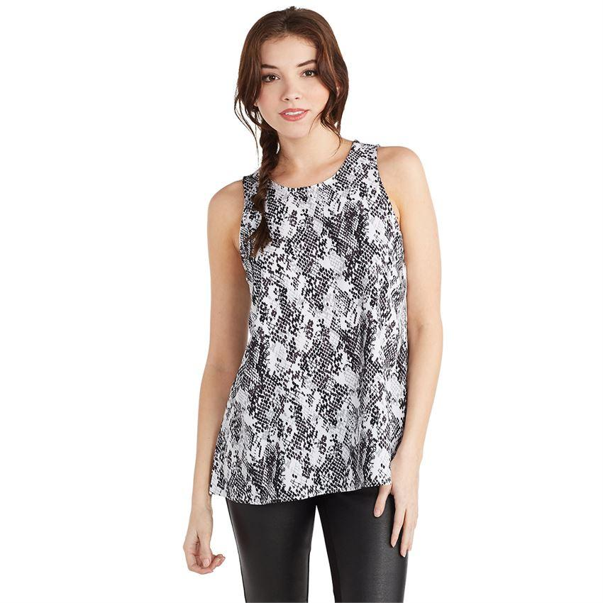 Mud Pie Burch Tank - Gray Python-Mud Pie-BeautyOfASite | Beauty, Fashion & Gourmet Boutique
