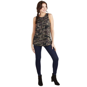 Mud Pie Burch Tank - Green Camo-Mud Pie-BeautyOfASite | Beauty, Fashion & Gourmet Boutique