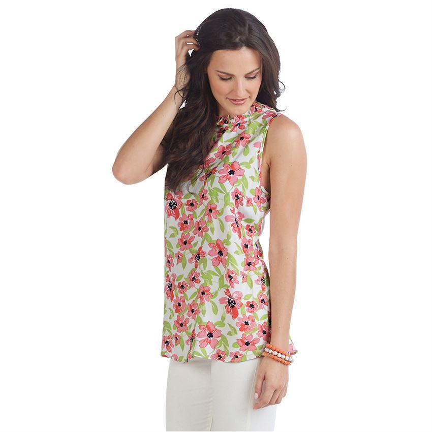 Mud Pie Callie Ruffle Tank - Floral-Mud Pie-BeautyOfASite | Beauty, Fashion & Gourmet Boutique