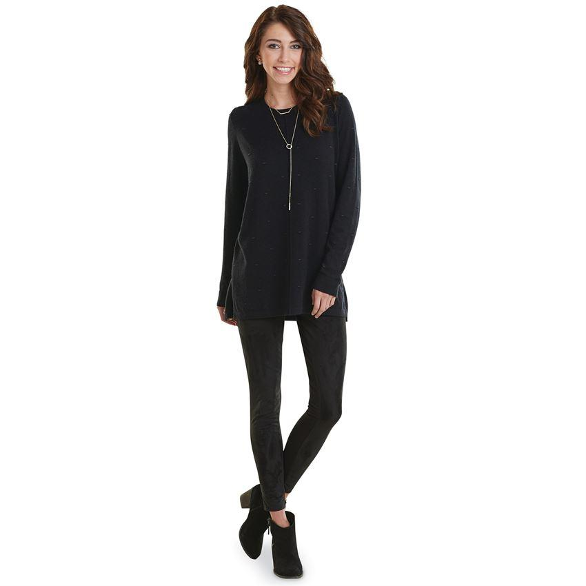 Mud Pie Camilla Sweater Tunic - Black-Mud Pie-BeautyOfASite | Beauty, Fashion & Gourmet Boutique