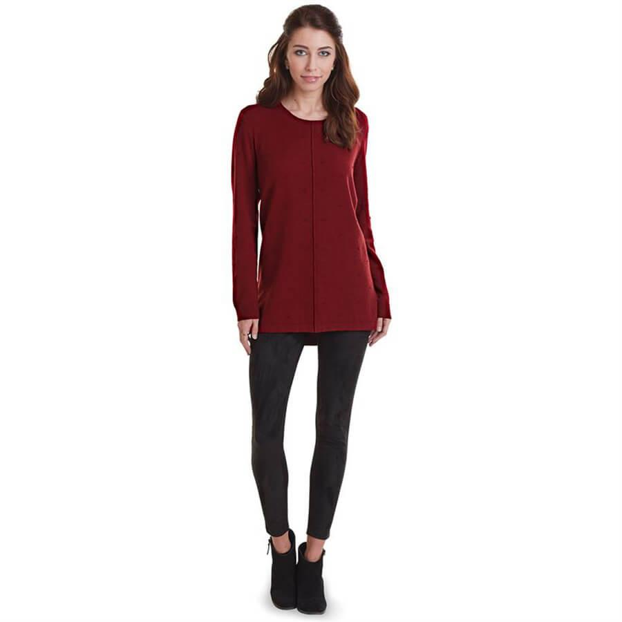 Mud Pie Camilla Sweater Tunic - Burgundy-Mud Pie-BeautyOfASite | Beauty, Fashion & Gourmet Boutique