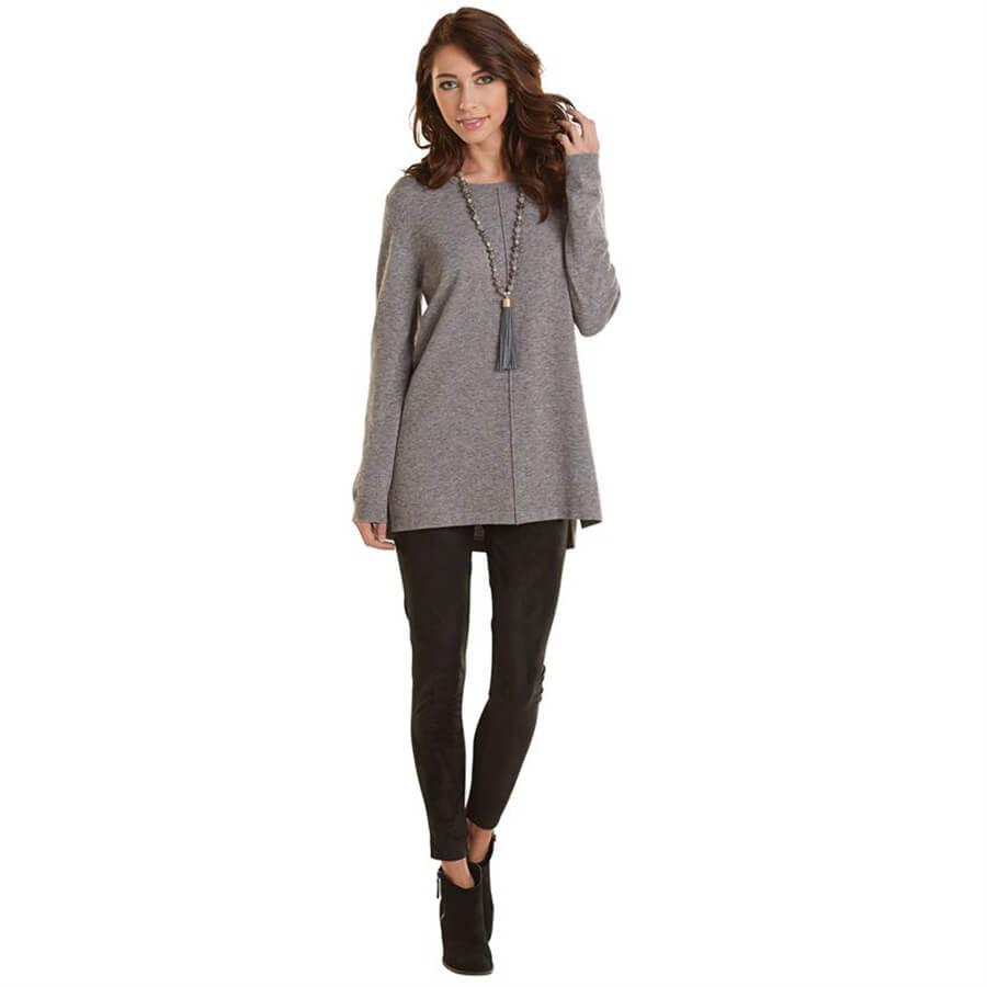 Mud Pie Camilla Sweater Tunic - Gray-Mud Pie-BeautyOfASite | Beauty, Fashion & Gourmet Boutique