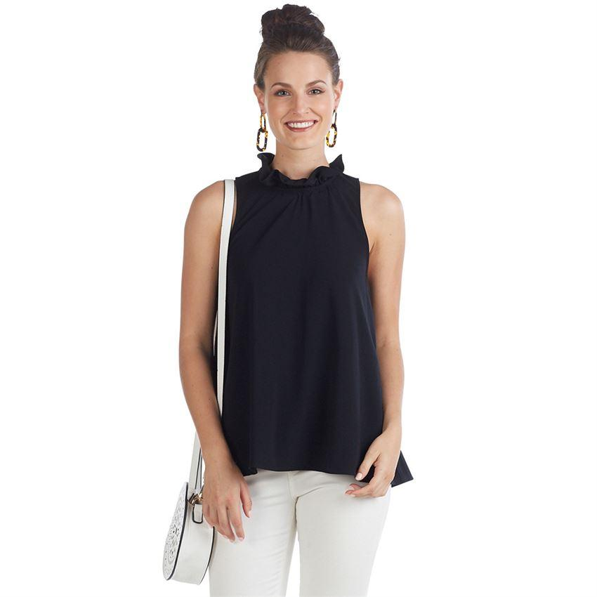 Mud Pie Eloise Ruffle Neck Bow Top-Mud Pie-BeautyOfASite | Beauty, Fashion & Gourmet Boutique