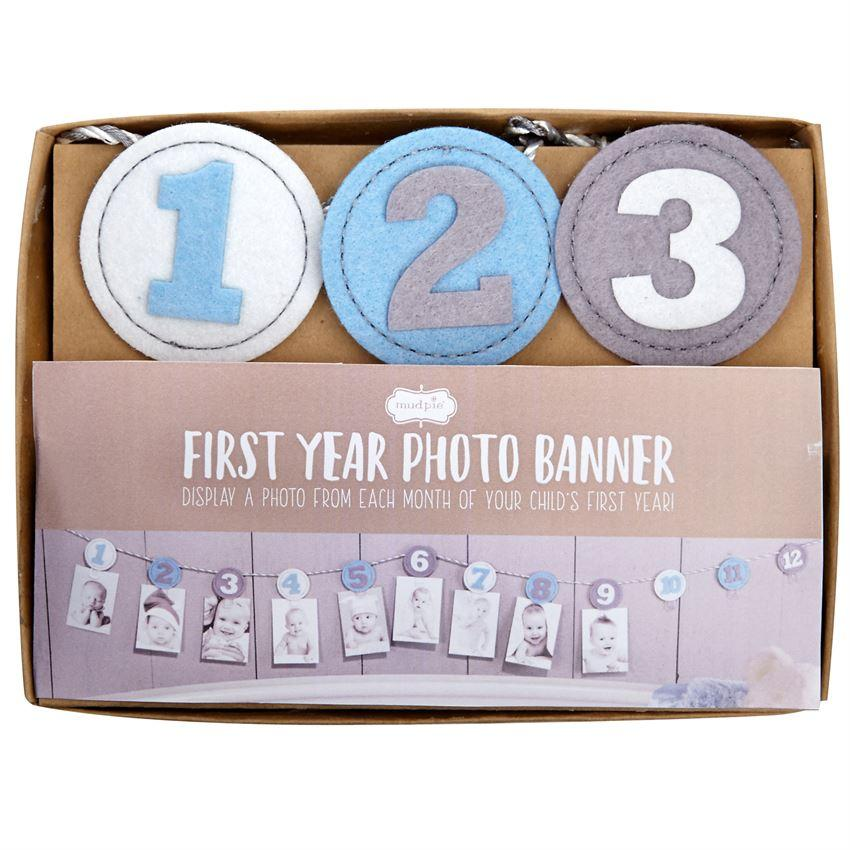 Mud Pie First Year Photo Banner-Mud Pie-BeautyOfASite | Beauty, Fashion & Gourmet Boutique