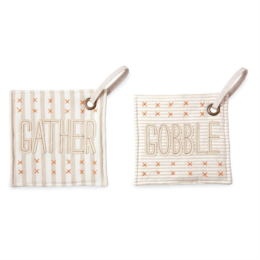 Mud Pie Gather & Gobble Pot Holder-Mud Pie-BeautyOfASite | Beauty, Fashion & Gourmet Boutique