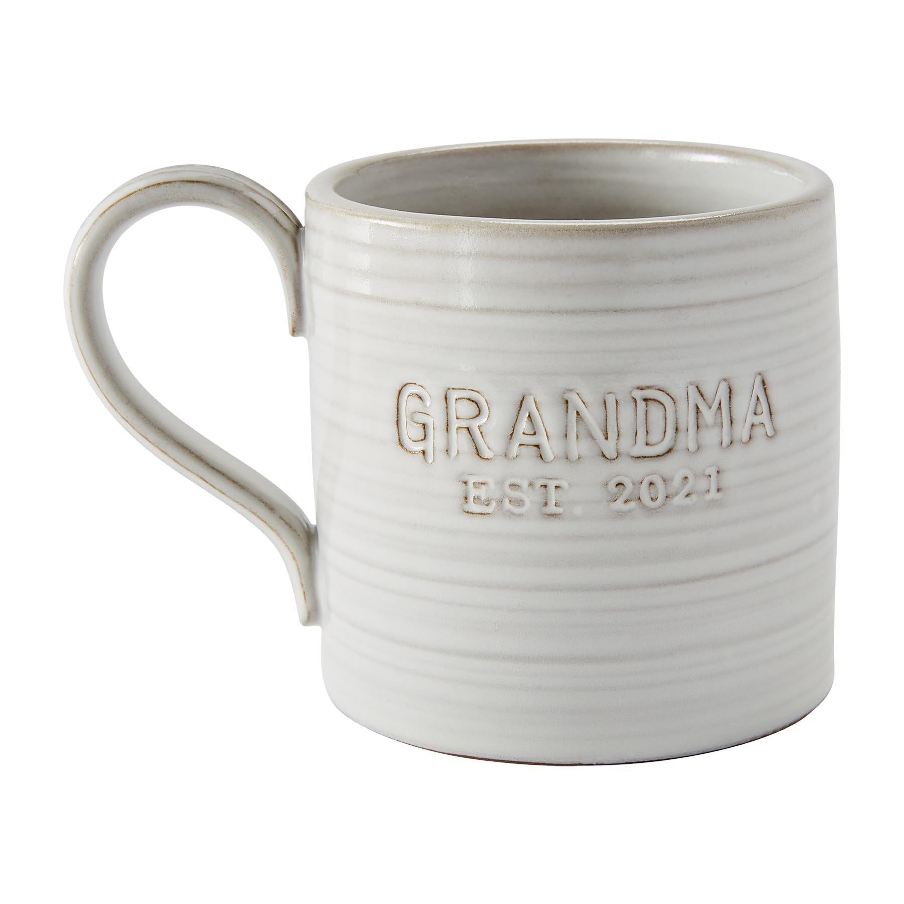 Mud Pie Grandma Est. 2021 Coffee Mug