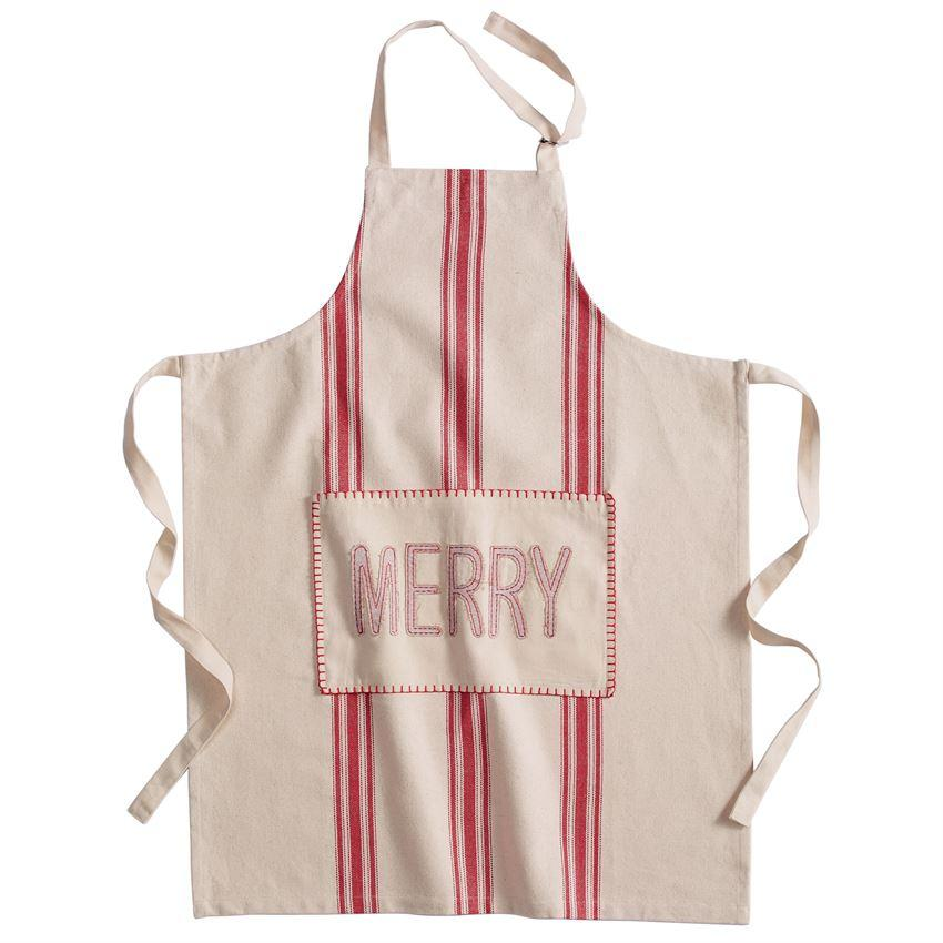 Mud Pie Holiday Grainsack Apron-Mud Pie-BeautyOfASite | Beauty, Fashion & Gourmet Boutique