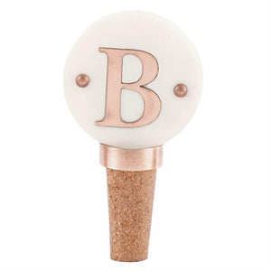 Mud Pie Initial Copper Wine Bottle Topper-Mud Pie-BeautyOfASite | Beauty, Fashion & Gourmet Boutique